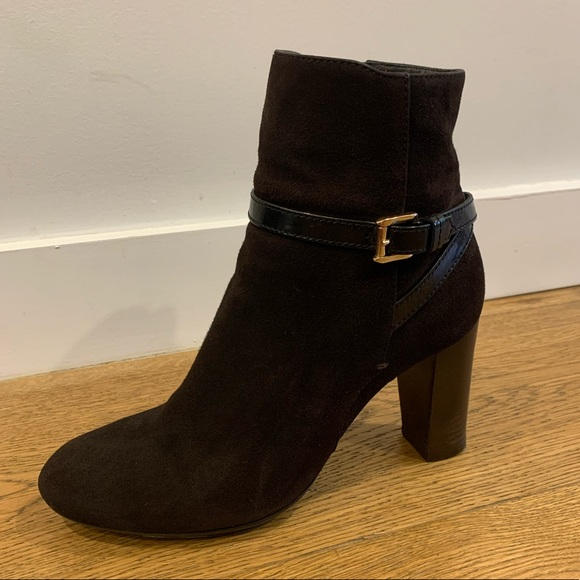 Tod's Shoes - Tod's Brown Suede Leather Booties